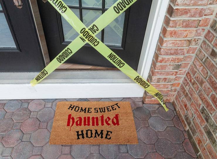 Haunted Home Vinyl Coir Doormat
