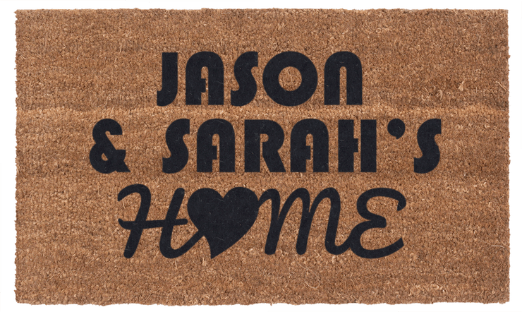 Personalized Home Love Vinyl Coir Doormat