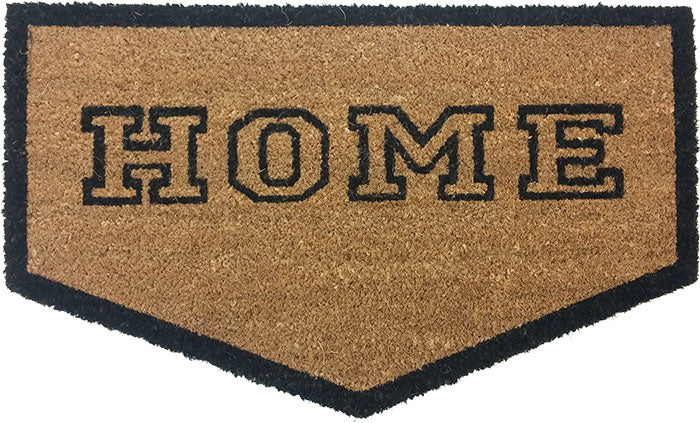 Home Plate Shaped Vinyl Coir Doormat