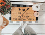 Personalized Family Arrows Doormats