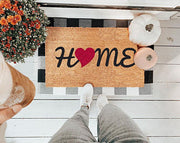 Home Love Vinyl Coir Doormat
