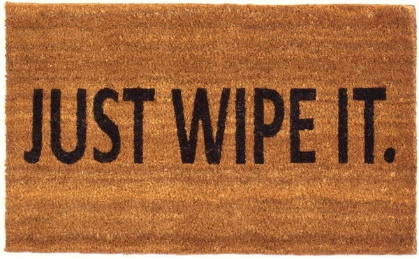 Just Wipe It Vinyl Coir Doormat