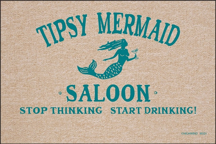 Tipsy Mermaid Olefin Doormat