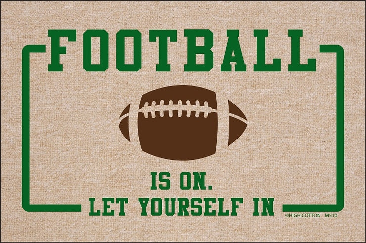 Football is On Olefin Doormat