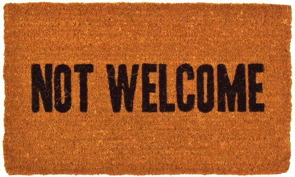 Not Welcome Handwoven Coco Doormat