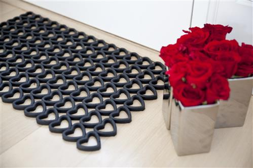 Recycled-Doormat-Hearts