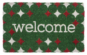 Red and Green Welcome Handwoven Coco Doormats
