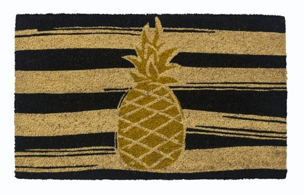 Pineapple Vinyl Coir Doormat