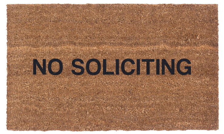 No Soliciting Coco Doormat (Large Print)