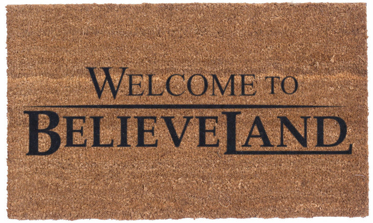 Welcome to Believeland – Vinyl backed Coco Mats