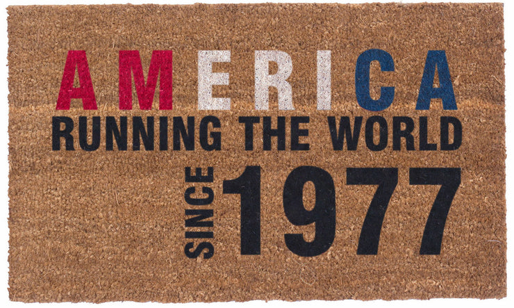 America runs the world coco mats