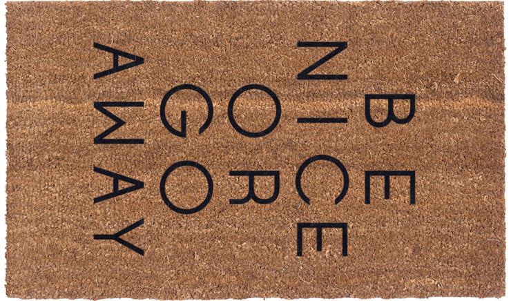 Be Nice Or Go Away Vinyl Coir Doormat