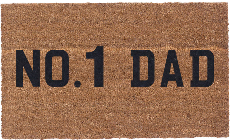No.1 Dad License Plate - Vinyl Backed Coco Mats