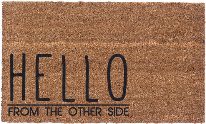 Hello From The Other Side Vinyl Coir Doormat