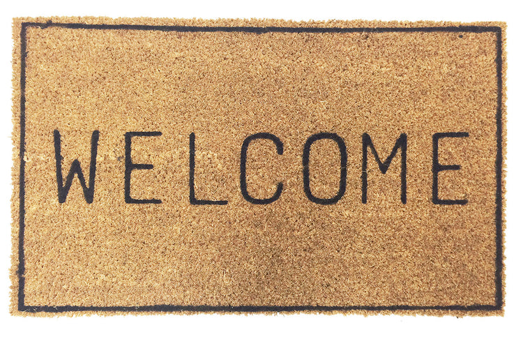 Welcome Doormat with border