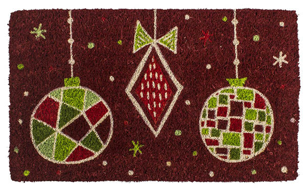 Geo Ornaments Handwoven Coco Doormat
