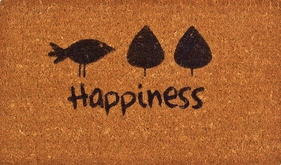 Happiness Vinyl Coir Doormat