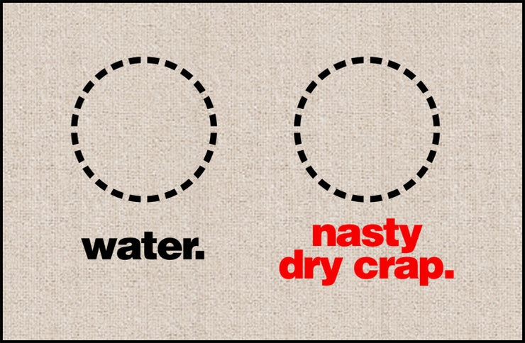 FUNNY DOORMAT - WATER, NASTY DRY CRAP