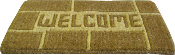 Welcome Brown Handwoven Coco Doormats