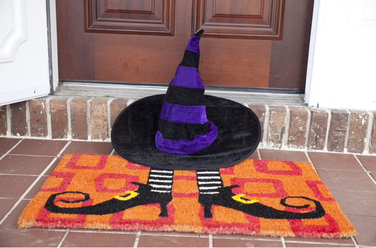 Wicked Witches Shoes Handwoven Coco Doormat