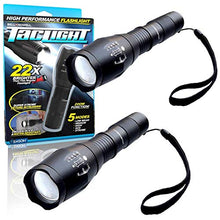 Load image into Gallery viewer, 5 in 1 + Zoom High Power Taclight Flashlight