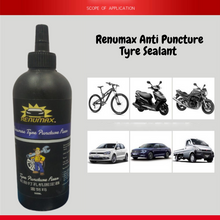 Load image into Gallery viewer, Renumax Anti Puncture Tyre Sealant – Special Pack with NOZZLE