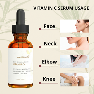 Natural & Organic Anti Wrinkle Whitening Vitamin C Serum for face, 20% Vitamin C