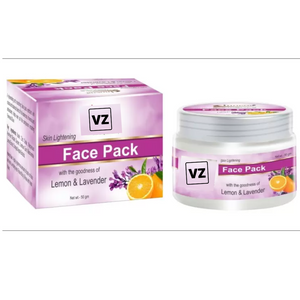Skin Lightening Face Pack With Lemon & Lavender