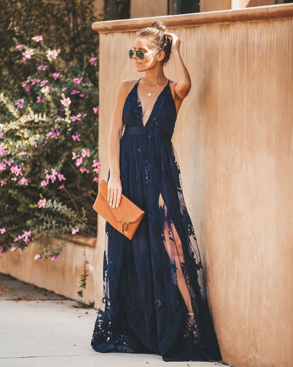 Antonia Maxi Dress - Navy