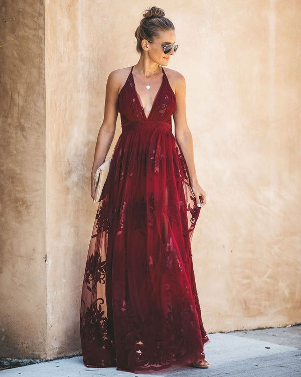 Antonia Maxi Dress - Wine