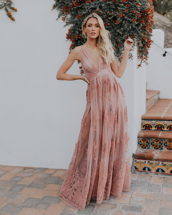Antonia Maxi Dress - Mauve