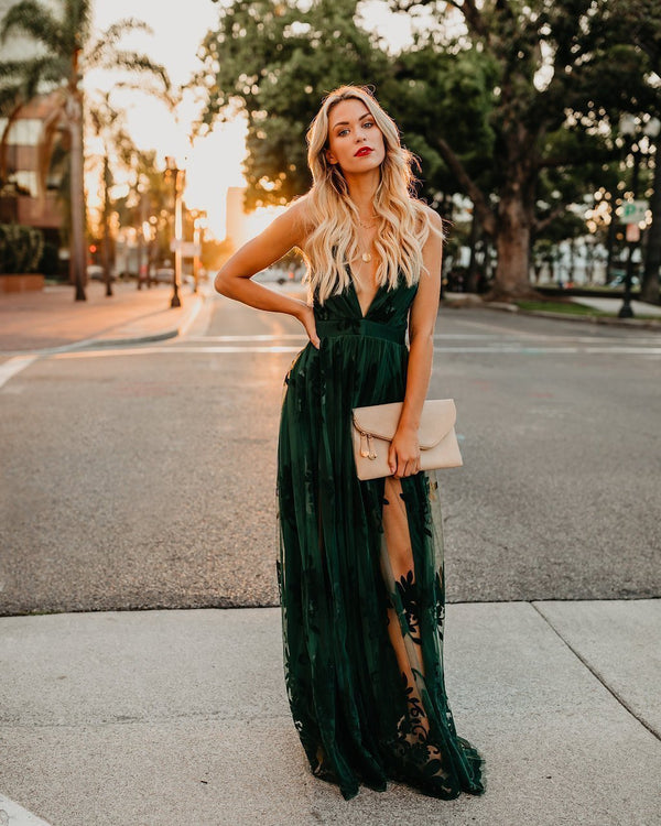 Antonia Hunter Green Maxi Dress-Hot Sale