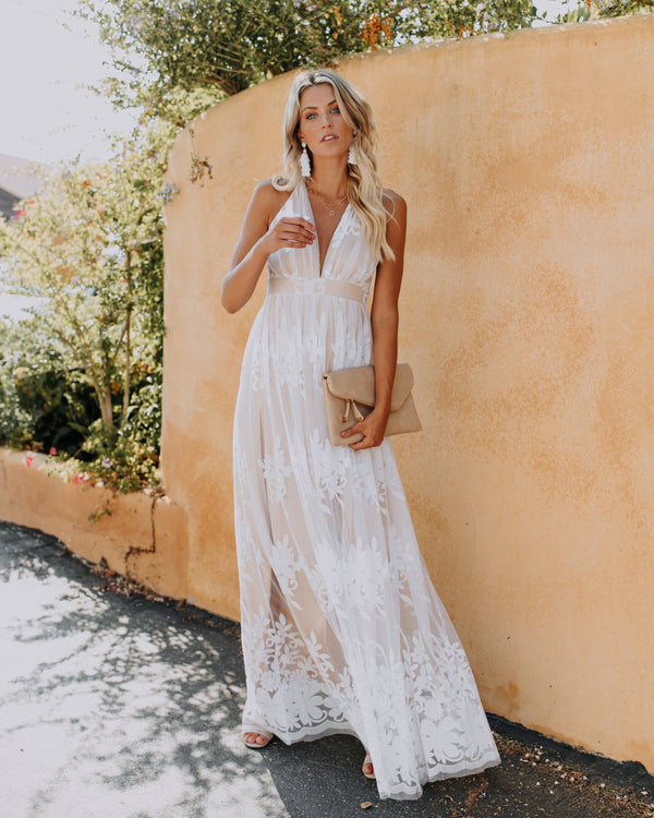 Antonia Maxi Dress - White