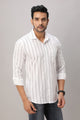 Striped Cotton Shirt For Men