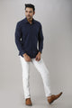Casual Solid Cotton Shirt For Men