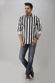 Stripes Cotton Shirt For Men Black