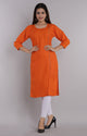 Women Cotton Straight Kurti