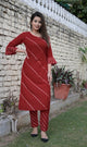 Women Rayon Gotta Lace Kurta And Pant Set