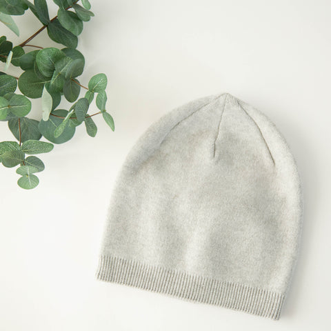 Cashmere Blend Beanie - Heather Gray