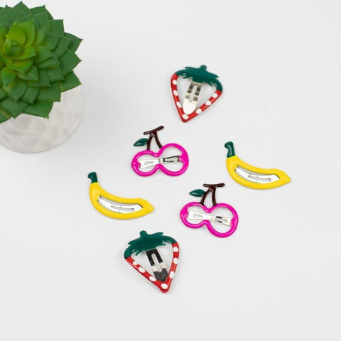 Banana Smoothie Hair Clip Set