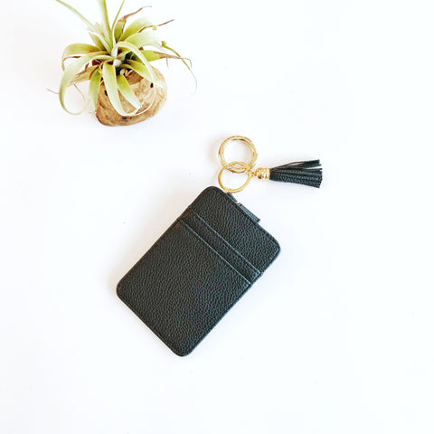 Key Ring Wallet - Black