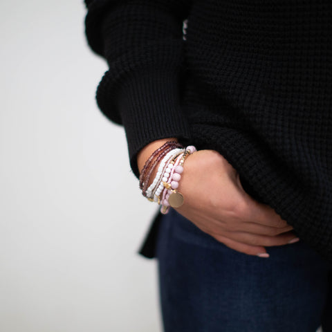 Pixie Bracelet Collection - Lavender & Goldtone