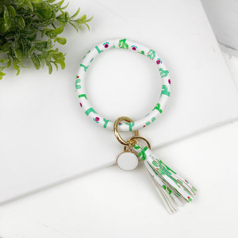 Key Ring Bracelet Collection - Cactus