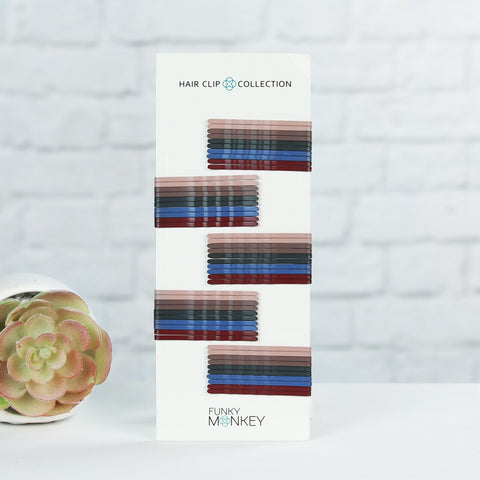 Boutique Colored Bobby Pin Pack - Dark Roast
