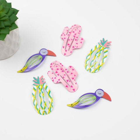 Tropical Sunrise Hair Clip Set