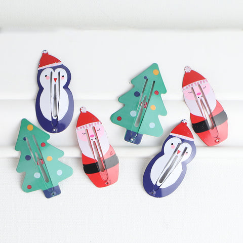 Merry Christmas Hair Clip Set