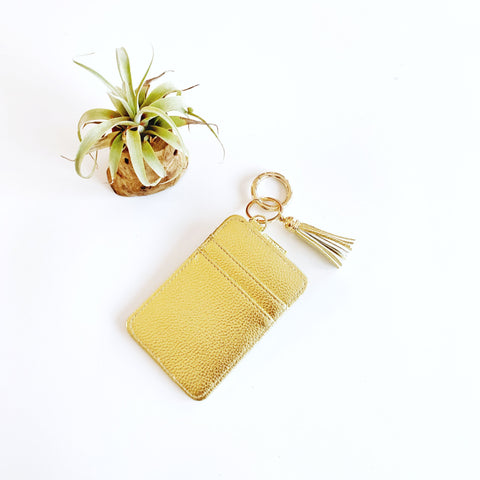 Key Ring Wallet - Gold