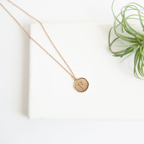 Initial Collection Necklace - Letter F