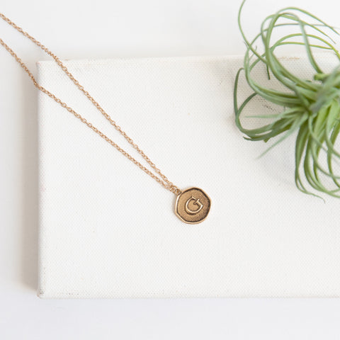 Initial Collection Necklace - Letter G
