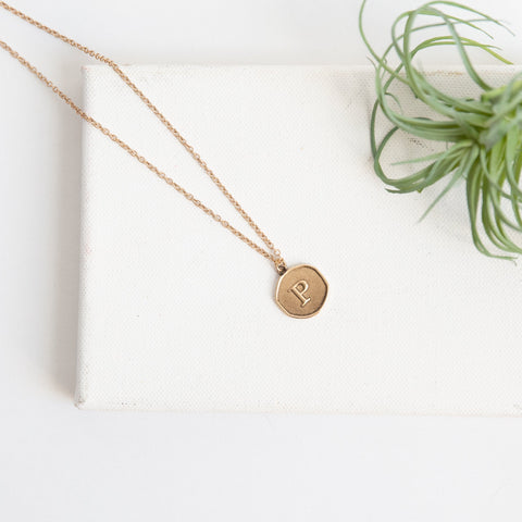 Initial Collection Necklace - Letter P